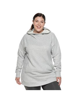 Plus Size Tek Gear® Fleece Raglan Tunic Hoodie by Plus Size Tek Gear