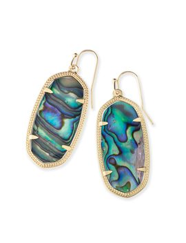 Elle Gold Drop Earrings In Abalone Shell by Kendra Scott
