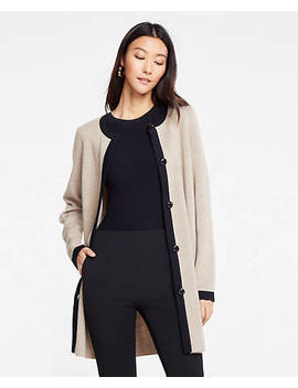 "<A Href=""Https://Www.Anntaylor.Com/Tipped Coatigan/479422?Sku Id=26440415&Default Color=7173&Default Size=902&Price Sort=Desc"" Tabindex=""0"" Data Di Id=""Di Id 20f28ed9 37891134"">Tipped Coatigan</A> by Ann Taylor"