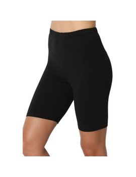 The Mogan Women's S~3 X Mid Thigh Stretch Cotton Active Bermuda Under Short Leggings by