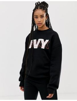 Ivy Park Layer Logo Sweatshirt In Black by Ivy Park