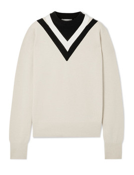 Color Block Wool Blend Sweater by Helmut Lang