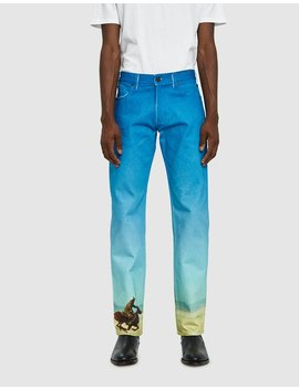 Straight Denim In Digital Horse by Calvin Klein Jeans Est. 1978