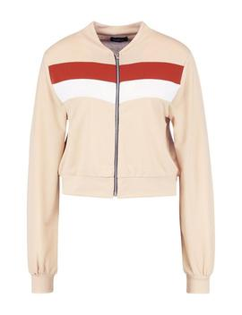 Zip Through Colour Block Tracksuit Jacket by Boohoo