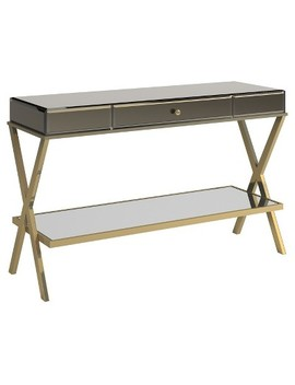 Whitney Mirrored Tv Stand Entry Console   Inspire Q by Inspire Q