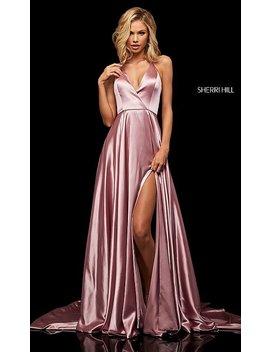 Classic Sherri Hill V Neck Halter Prom Dress by Promgirl