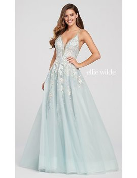 Long V Neck A Line Designer Prom Dress With Beading by Promgirl