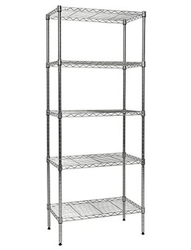 "Apollo Hardware Chrome 5 Shelf Wire Shelving 14""X24""X60"" (Chrome) by Apollo Hardware"
