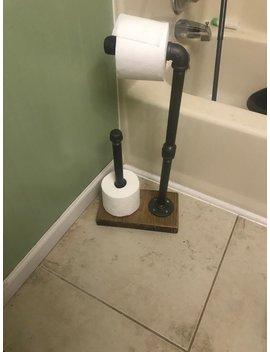 Industrial Toilet Paper Holder | Rustic Bathroom | Industrial | Bathroom Decor | by Etsy