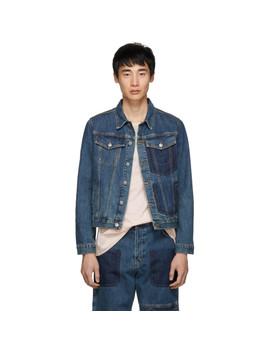 Blue Denim Shaded Pocket Jacket by Jw Anderson