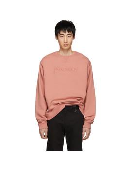Pink Jwa Logo Embroidery Sweatshirt by Jw Anderson