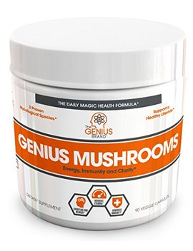 Genius Mushroom – Lions Mane, Cordyceps And Reishi – Immune System Booster & Nootropic Brain Supplement – Wellness Formula For Natural... by The Genius Brand