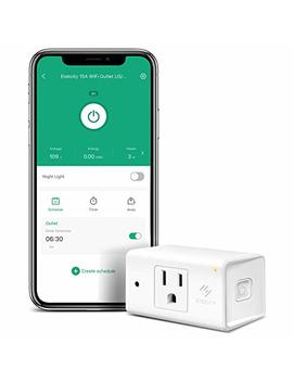 Etekcity Wi Fi Smart Plug Mini Outlet With [Automatic Night Light], Compact Design, Heavy Duty With Energy Monitoring, No Hub Required, Works With Alexa And Google Home, Etl Listed, White, 15 A/1800 W by Etekcity