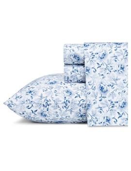 Lorelei Sheet Set Indigo 300 Thread Count   Laura Ashley® by Laura Ashley