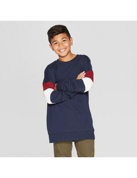 Boys' Long Sleeve Drop Shoulder Sweatshirt   Art Class™ by Art Class