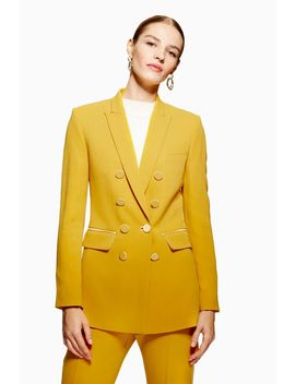 Satin Button Tuxedo Jacket by Topshop