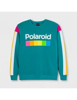 Men's Long Sleeve Polaroid Fleece Crew Pullover Sweatshirt   Teal by Polaroid
