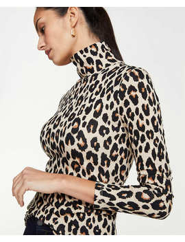 Spotted Turtleneck Top by Ann Taylor