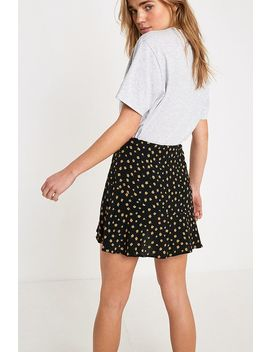 Uo Floral Wrap Mini Skirt by Urban Outfitters