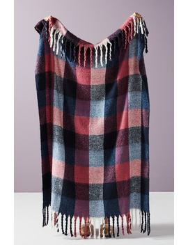 Plaid Throw Blanket by Anthropologie