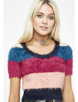 Harriet Fuzzy Sweater by Cotton Candy