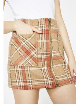 Fallout Girl Plaid Mini Skirt by Honey Punch