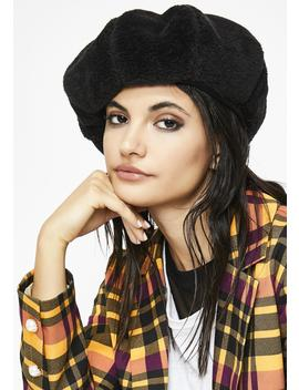 Sweet November Teddy Beret by Ana Accessories