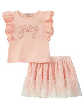 Juicy Couture Little Girls' Toddler Long Sleeve Top & Jumper Dress Set by Juicy+Couture