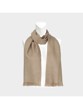 Voile De Cachemire Scarf In Camel Cashmere by Eric Bompard