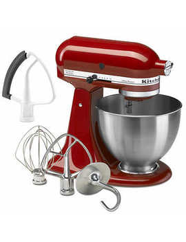 Kitchen Aid Ultra Power Tilt Head Stand Mixer With Bonus Flex Edge Beater, Red by Costco