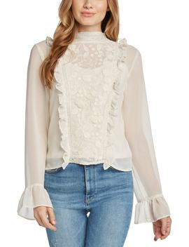 Mock Neck Lace Blouse by Willow & Clay