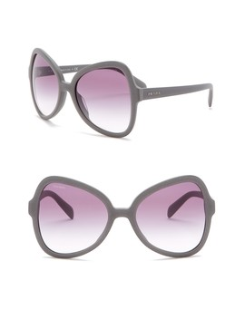 56mm Butterfly Sunglasses by Prada