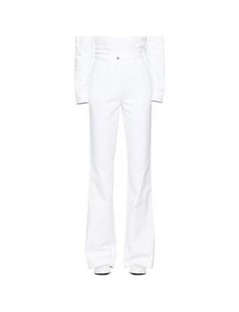 White High Waist Bootcut Jeans by A Plan Application