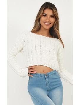 Mixed Feelings Knit Top In Cream by Showpo Fashion