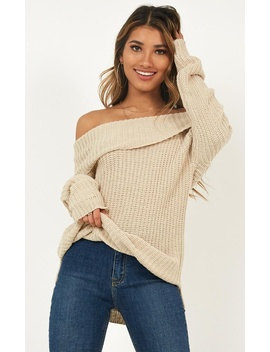 Handwritten Knit Jumper In Cream by Showpo Fashion