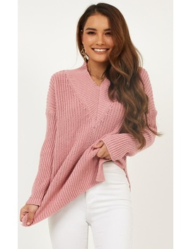 With Conviction Knit In Dusty Pink by Showpo Fashion