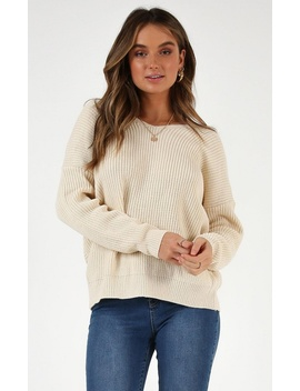 Fantasy Come True Knit Sweater In Cream by Showpo Fashion