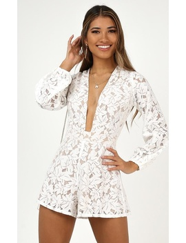 Fake Love Playsuit In White Lace by Showpo Fashion