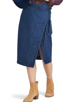 Denim Midi Wrap Skirt by Madewell