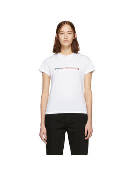 White Logo T Shirt by Alexander Wang