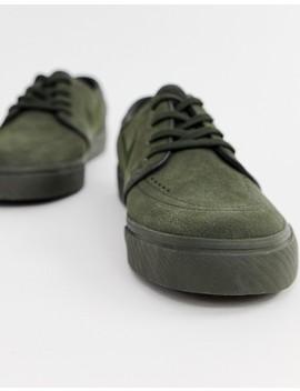 Nike Sb Zoom Stefan Janoski Sneakers In Green 333824 313 by Nike Skateboarding