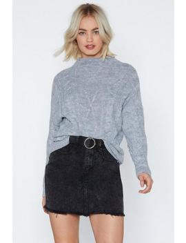 High Neck It Out Sweater by Nasty Gal