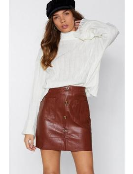 Mini By Mini Faux Leather Skirt by Nasty Gal