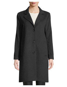 Cashmere Single Breasted Boyfriend Coat by Jane Post