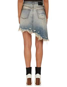 Distressed Asymmetric Denim Skirt by R13