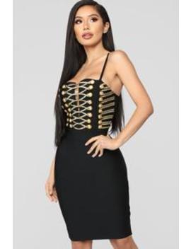 On My Radar Bandage Dress   Black by Fashion Nova