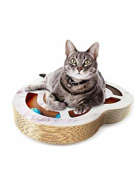 Nittis Heart Shaped Scratcher Cat Toys Bell Balls,Interactive Cat Toys,Deluxe Cat Scratcher Lounge,Cardboard Cat Scratching Post by Nittis