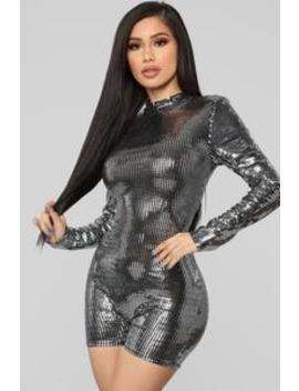 Babe Magnet Metallic Romper   Silver by Fashion Nova