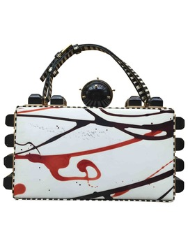 Leather Clutch Bag by Tonya Hawkes