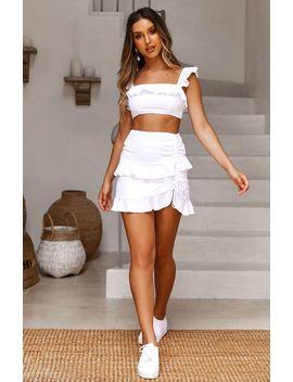 Mademoiselle Mini Skirt White by White Fox